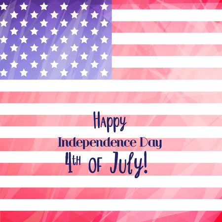 happy 4th of July background with flag Illustration