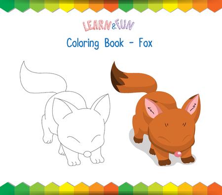 Fox coloring book educational game