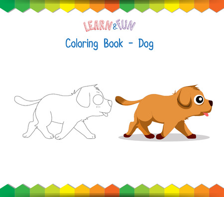 game dog: Dog coloring book educational game