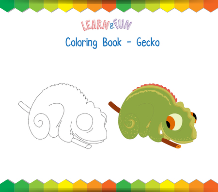 gecko: Gecko coloring book educational game