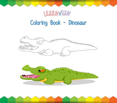 educational: Crocodile coloring book educational game
