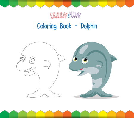 winds: Dolphin coloring book educational game