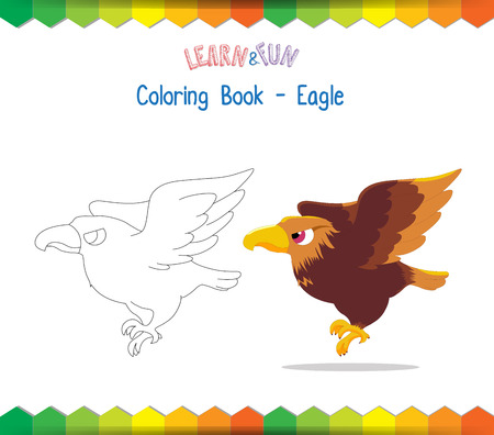 Eagle coloring book educational game