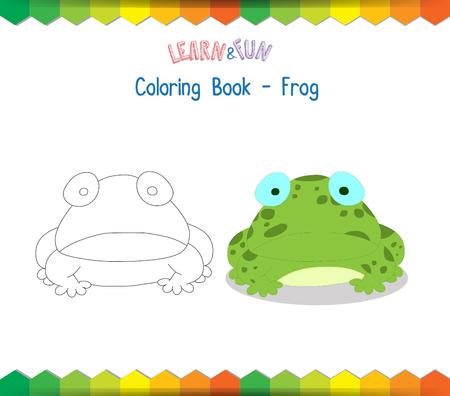 educational: Frog coloring book educational game