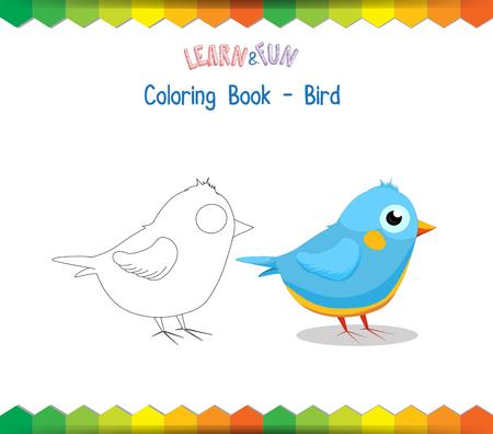 game bird: Bird coloring book educational game Illustration