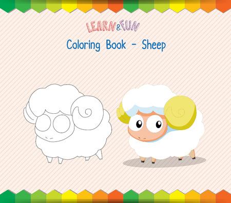 Sheep coloring book educational game