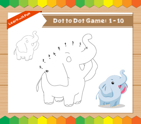 Connect The Dots And Coloring Page - Elephant Royalty Free Cliparts ...