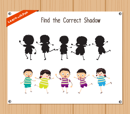 correct: Find the correct shadow, education game for children - Kids funny