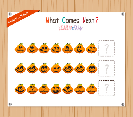 completing: Completing the Pattern Educational Game for Preschool Children Illustration