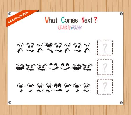 Die Vollendung des Muster-Lernspiel für Vorschulkinder Vektorgrafik