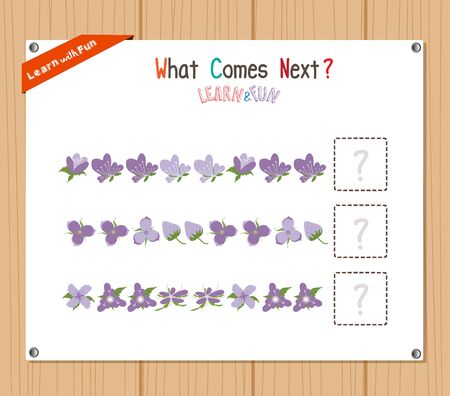 complete solution: Completing the Pattern Educational Game for Preschool Children Illustration
