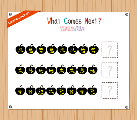 mental object: Completing the Pattern Educational Game for Preschool Children Illustration