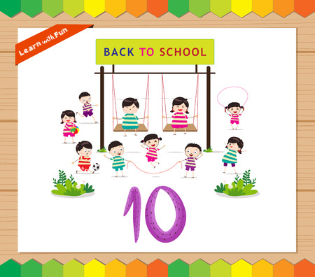 countable: Kids playing with the number 10