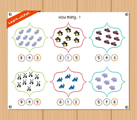 worksheet: Counting object for kids - Education worksheet