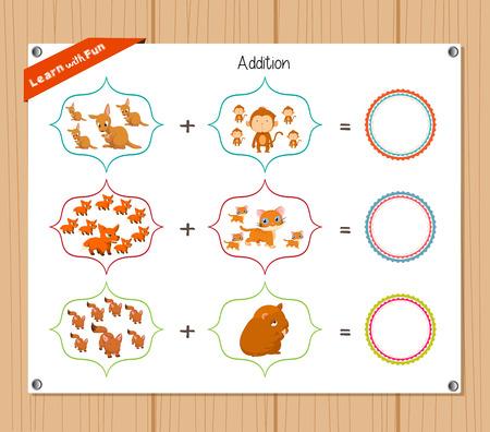 worksheet: Addition number - Worksheet for education.