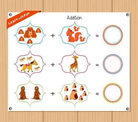 addition: Addition number - Worksheet for education.