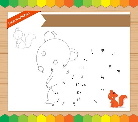 learner: join to the dots with a to z Illustration