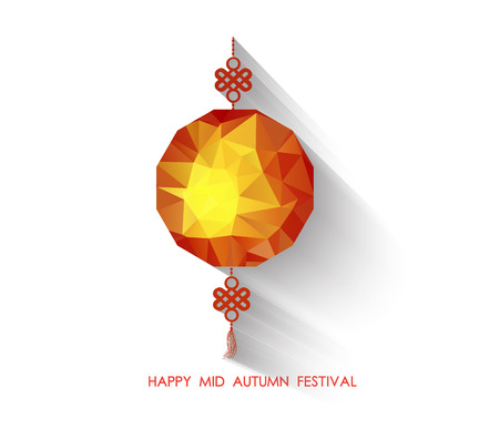 autumn festival: Oriental Paper geometrical lantern. Mid Autumn Festival