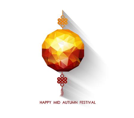 tanglung festival: Oriental Paper geometrical lantern. Mid Autumn Festival