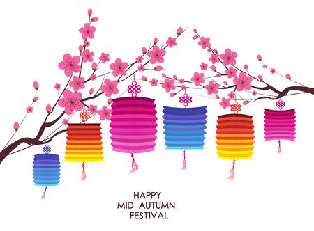 Chinese Lantern Festival Mid Autumn Festival 일러스트