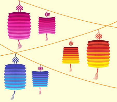 co lour: Chinese Lantern Festival Mid Autumn Festival Illustration