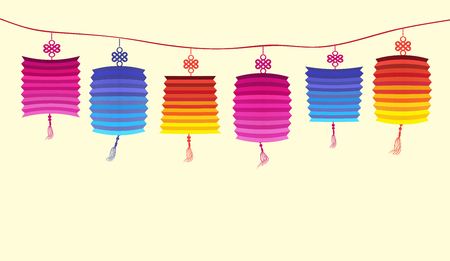 co lour: Illustration about traditional festival lanterns