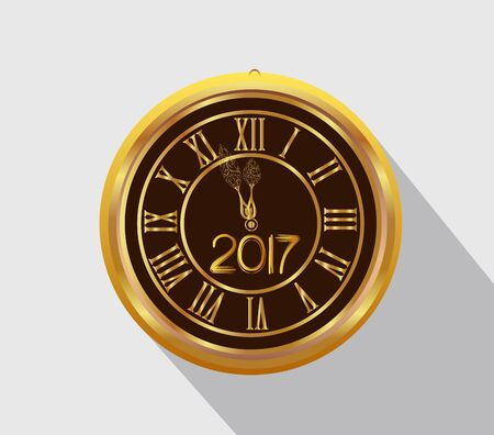 old clock: Happy New Year 2017 - Old clock.