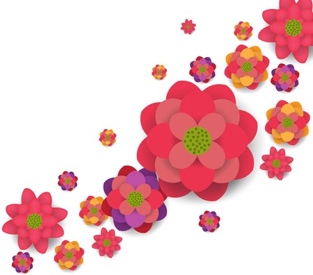 blossom background: Oriental Happy Chinese New Year Blooming Flowers Design