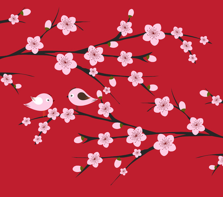 tradicional año nuevo chino. fondo del flor