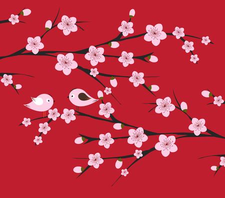 traditioneel Chinees nieuw jaar. Blossom achtergrond