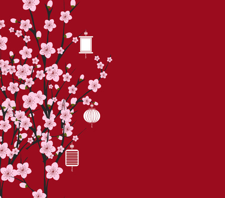 blossom background: traditional chinese new year. Blossom background