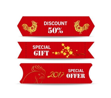 Chinese scroll: Chinese new year design elements. Chinese tags for sale