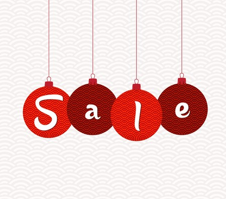 Chinese scroll: Sale Tags. Chinese new year