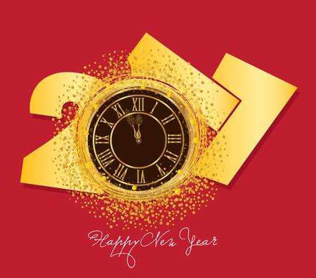 shiny background: shiny New Year Clock background