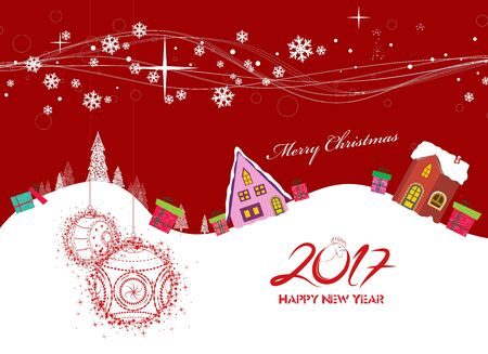 furtree: Merry christmas and Happy new year 2017 Illustration