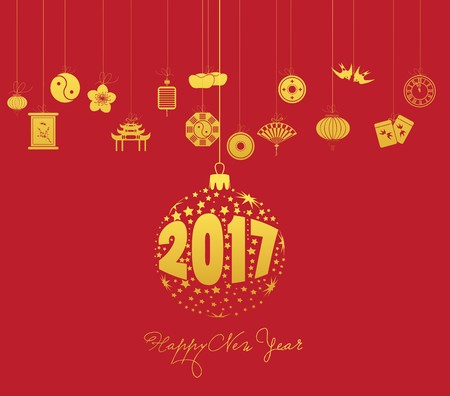 fortuna: Chinese new year 2017 with christmas ball