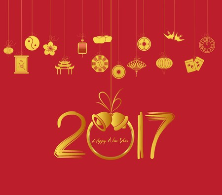 chinese knot: Oriental Happy Chinese New Year 2017
