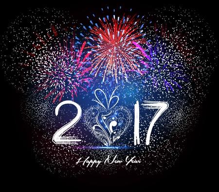 aries: Feliz Año Nuevo 2017 del fuego artificial