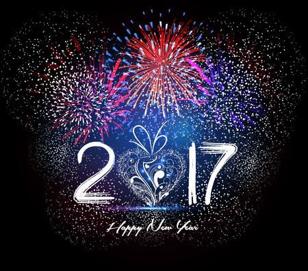 Happy New Year 2017 Firework