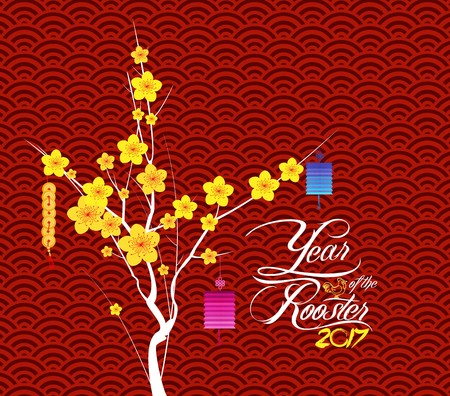Happy Chinese New Year Flower Lanterns background