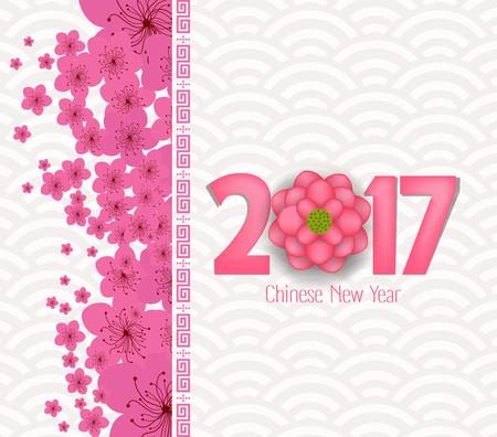 Chinese nieuwe jaar 2017 bloesem