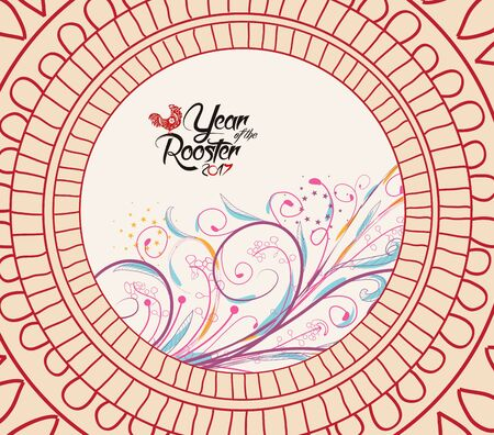 Chinese new year pattern background with floral