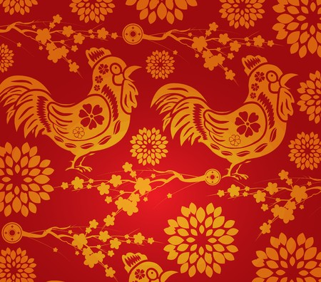 blossom background: Chinese new year blossom pattern background