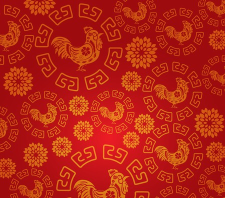 year: Chinese new year rooster pattern background