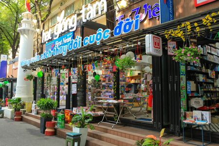 publishers: Vietnamese book street, where all publishers, editors and shops open vendors in the popular street at central district (District 1)