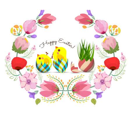 3146 Easter Wreath Stock Illustrations Cliparts And Royalty Free