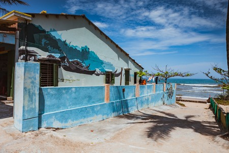 16: TAM THANH, TAM KY, VIETNAM - MARCH 16, 2017: Painted wall, Street arts in Tam Thanh mural Village Editorial