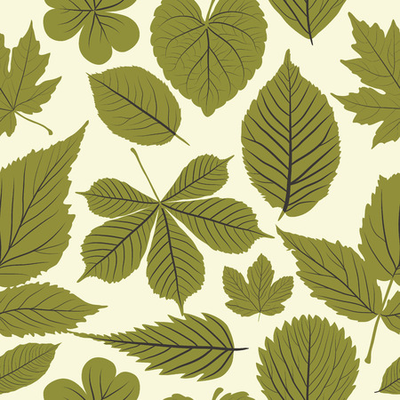 Seamless pattern with leaves, floral