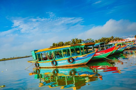 Hoi An Boats - Vietnam Editorial