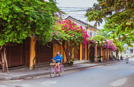 HOI AN, VIETNAM - MARCH 19, 2017: Morning in Hoi An ancient town Editorial